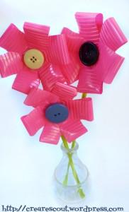 fiori plastica vaso