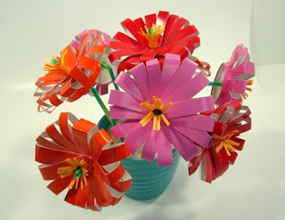 plastic cup flowers