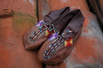 mocassini indiani pelle perline