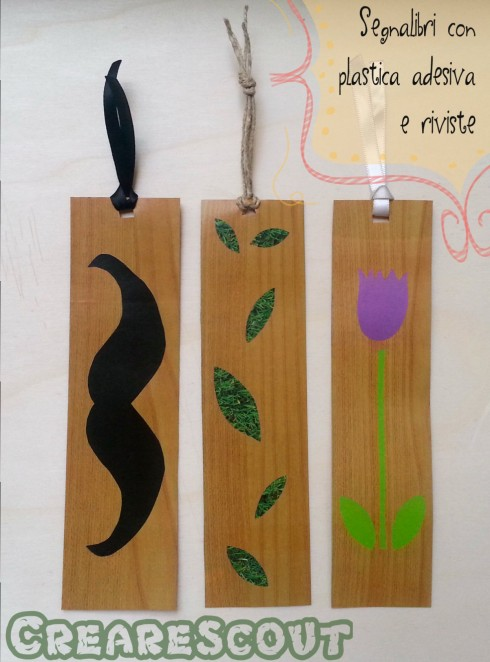 segnalibri finto legno e riciclo carta riviste